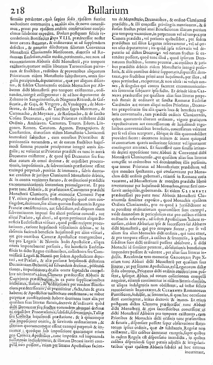 Bullarium Cluniacense p. 218     ⇒ Index privilegiorum