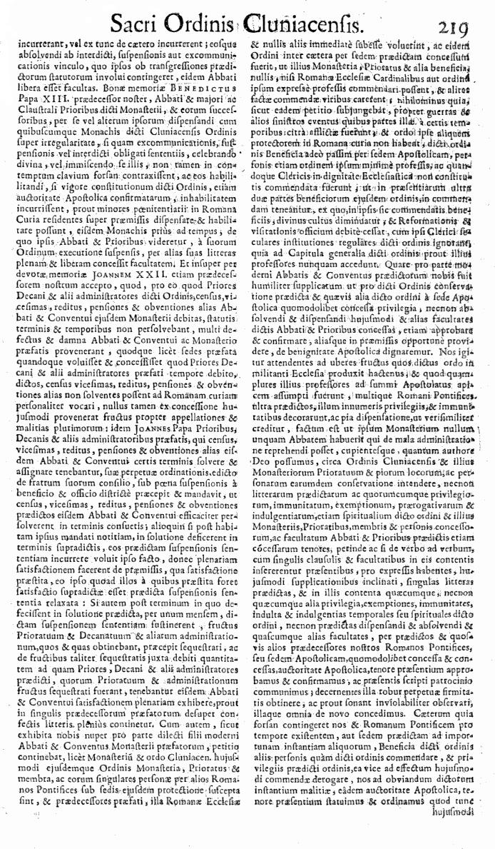 Bullarium Cluniacense p. 219   ⇒ Index privilegiorum