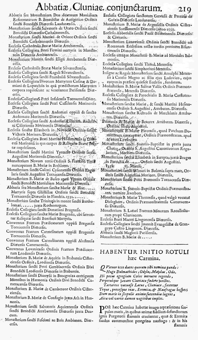 Bullarium Cluniacense p. 219b   ⇒ Index privilegiorum
