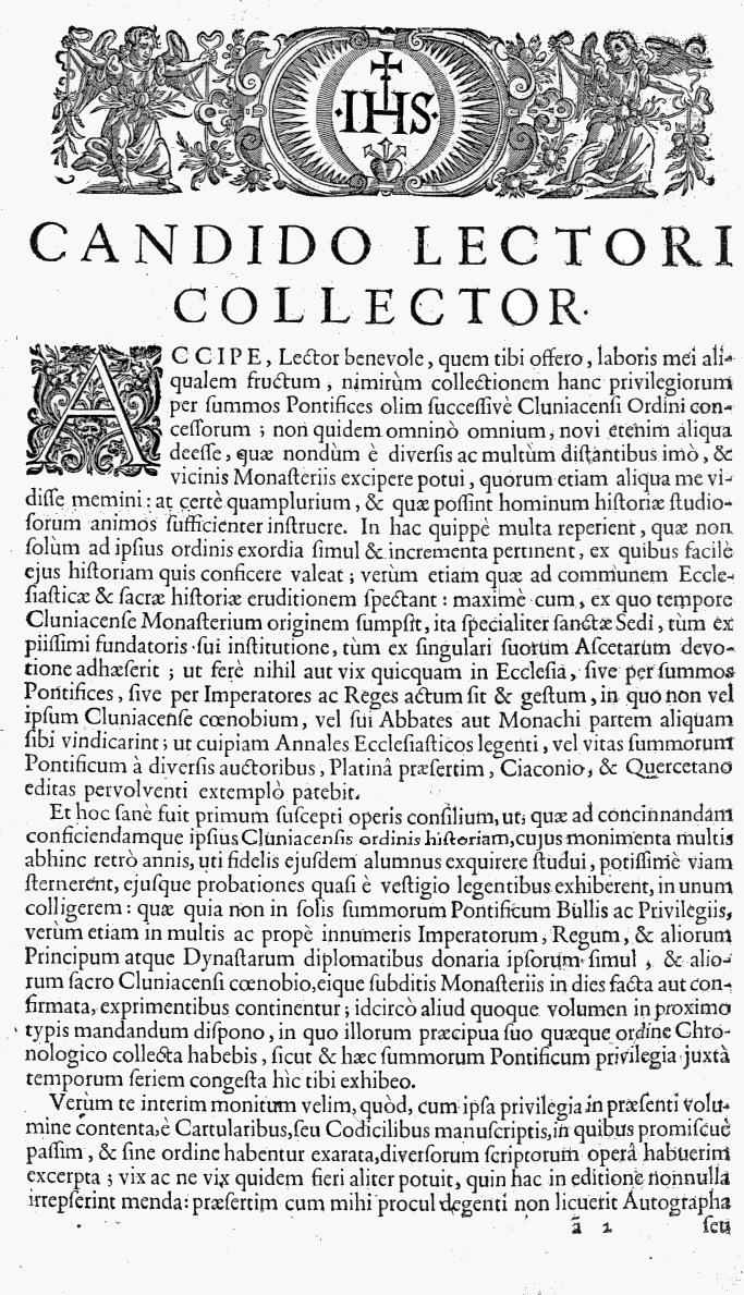 Bullarium Cluniacense p. A01   ⇒ Index privilegiorum