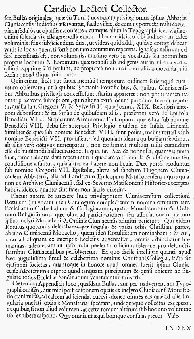 Bullarium Cluniacense p. A02   ⇒ Index privilegiorum