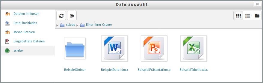 Bildliche Darstellung vom Auswählen von Dateien