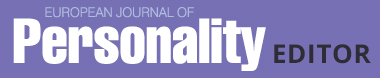 European Journal of Personality Editor