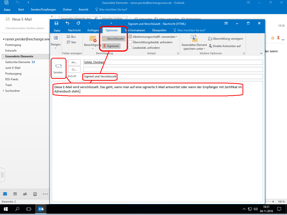 WWUCA –with Outlook and Exchange