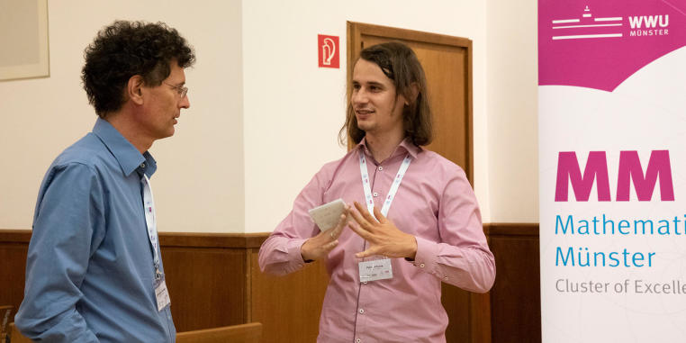 Prof. Dr Peter Scholze who received the Fields Medal in 2018 also came to Münster to discuss his latest findings.