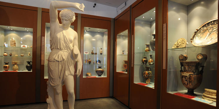 Displays in the Archaeological Museum