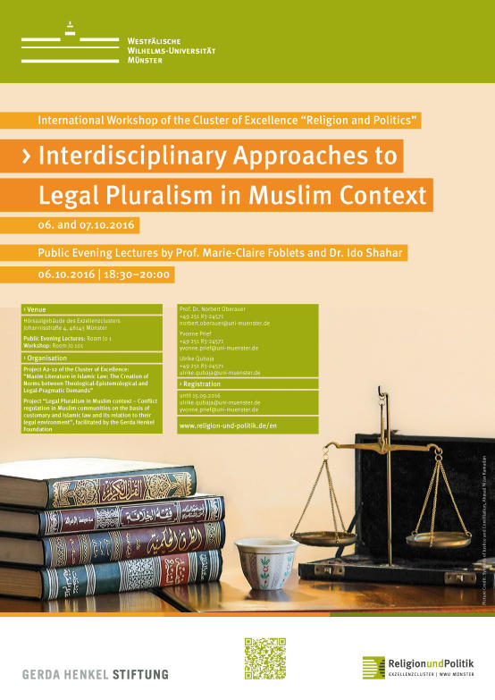 Interdisciplinary Approaches to Legal Pluralism in Muslim Context Plakat