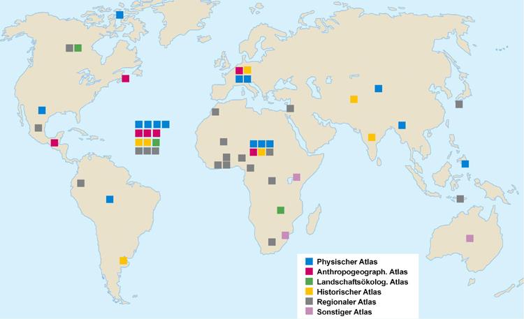 Geographie - Weltkarte