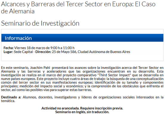 Third Sector Buenos Aires