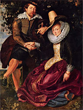 Selbstportrait mit seiner Frau Isabella Brant in der Geißblattlaube