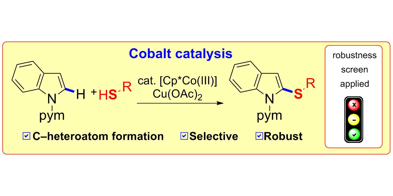 Cobalt-Catalyzed C−H Thiolation through Dehydrogenative Cross-Coupling,  Angew. Chem. Int. Ed. 2016, 55, 11287-11291; Angew. Chem. 2016, 128,  11457-11461.