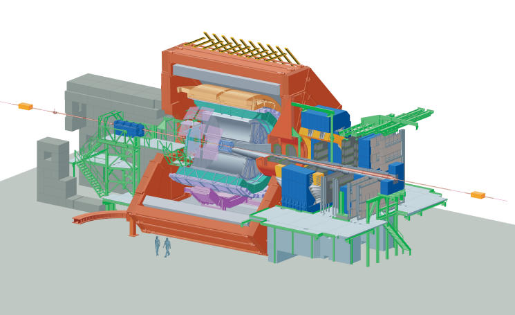 Cut view of the ALICE experiment at the CERN LHC (ALICE)