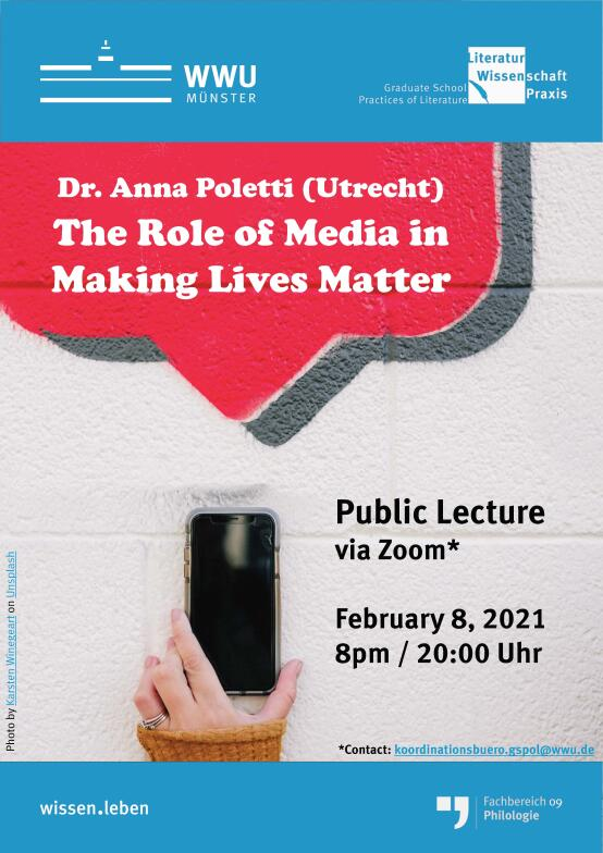 Poster for the evening lecture