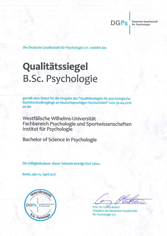 Psychologie Bachelor Of Science
