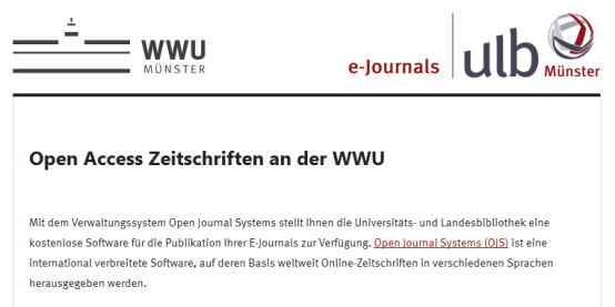 E-Journal-Plattform der WWU