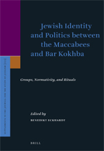 "Buchcover ""Jewish Identity and Politics between the Maccabees and Bar Kokhba"""