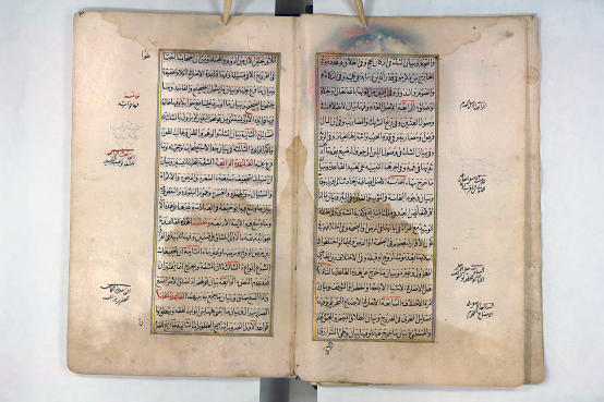 A double page from the maxim collection of the scholar Ibn Nujaym, who died in 1563, undated manuscript