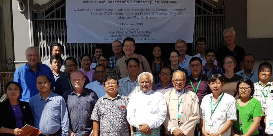 Participants of the conference on ethnic and religious diversity in Myanmar