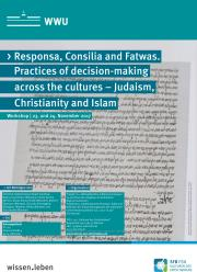 "Plakat des Workshops ""Responsa, Consilia and Fatwas"""