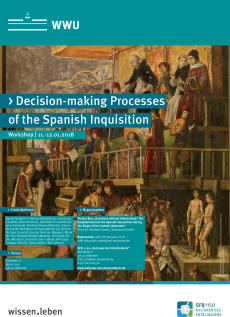 "Plakat des Workshops ""Decision-making Processes of the Spanish Inquisition: Participants, Institutions, and Negotiations"""
