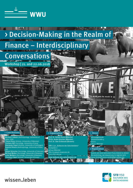 "Plakat des Workshops ""Decision-Making in the Realm of Finance"""
