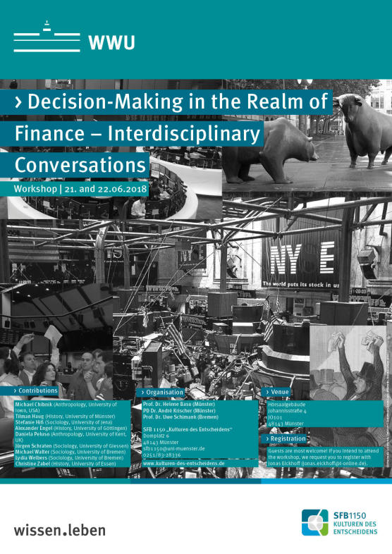 "Poster of the workshop ""Decision-Making in the Realm of Finance – Interdisciplinary Conversations"""