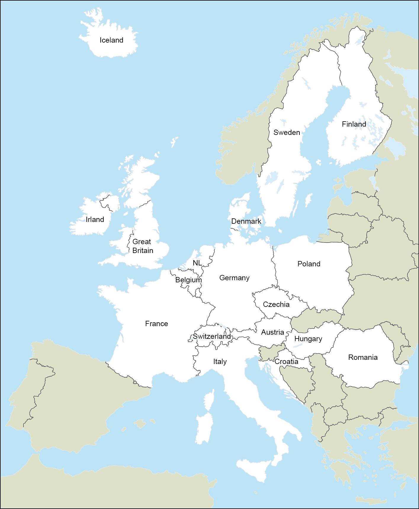Karte Von Europa Mit Städten.Städteatlanten