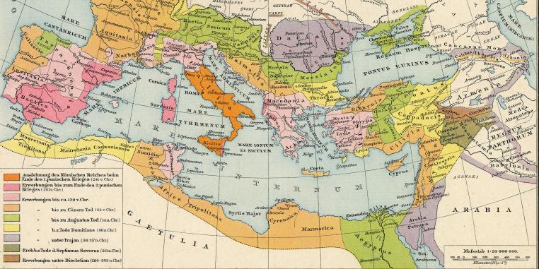 Römisches Reich Karte.Antike