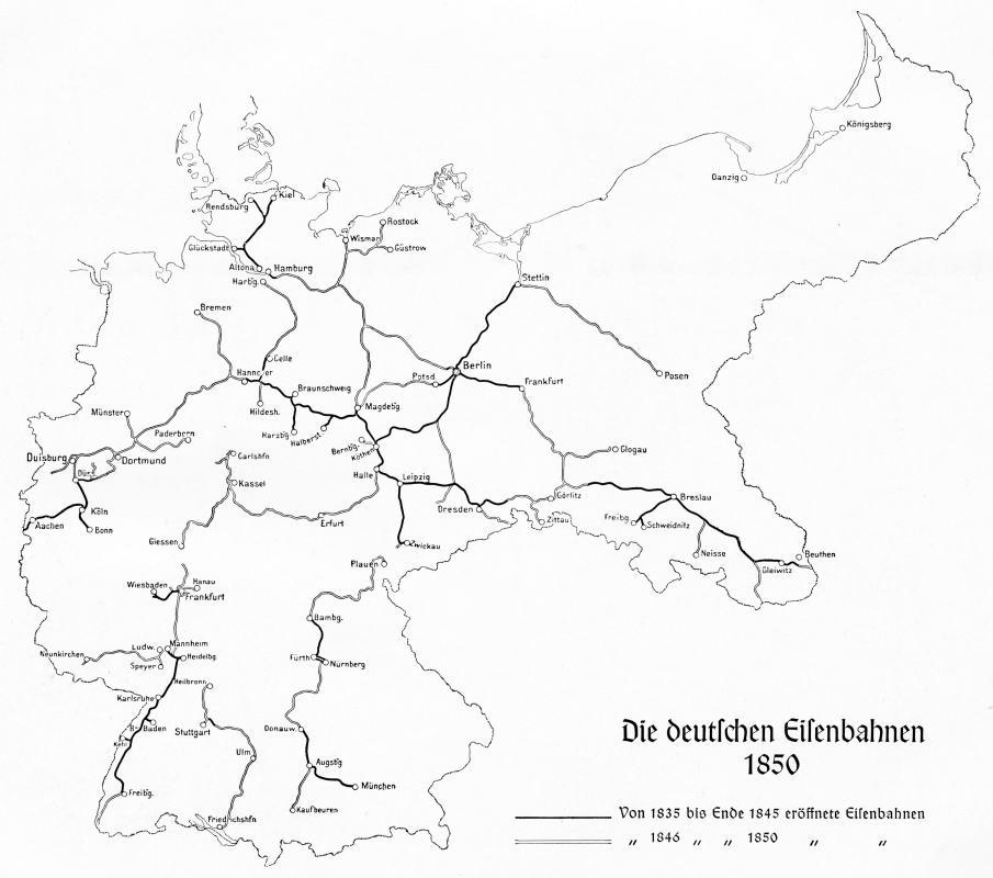 Eisenbahn Deutschland Industrialisierung