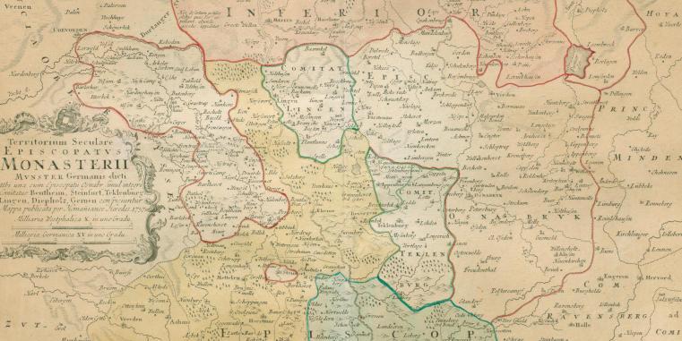 Karte Münsterland.Historische Karten