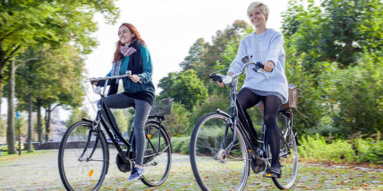 Students on their bycicles