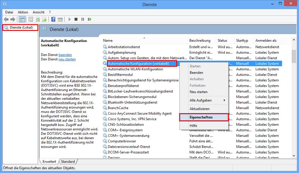 ZIV - LAN Windows 8
