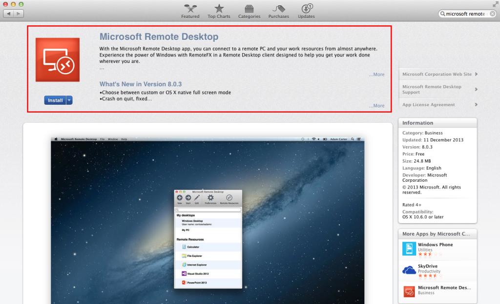ZIV -Remote-Desktop OS X