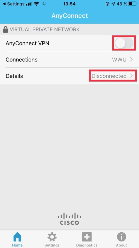 4. Disconnecting the VPN Connection