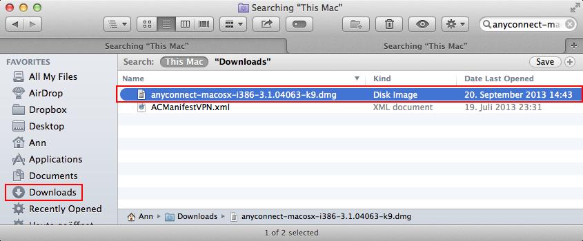 ZIV - VPN OS X