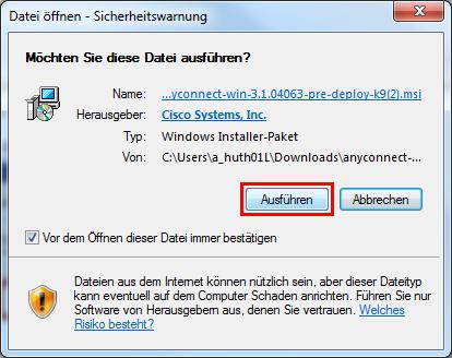 ZIV -VPN Windows 7