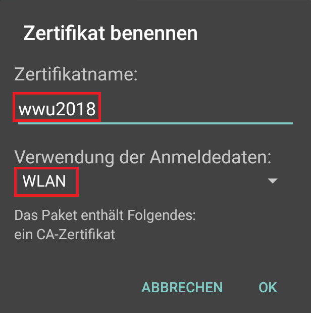 ZIV - WLAN Android
