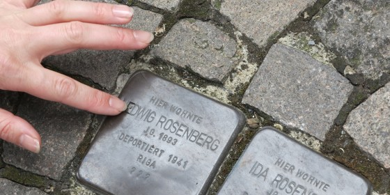 Die &amp;quot;Expedition Münsterland&amp;quot; begibt sich auf die Suche nach Zeugnissen jüdischen Lebens.<address>&copy; WWU/AFO</address>
