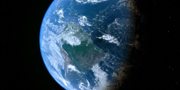 Die Erde im Weltraum