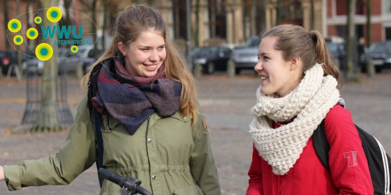 What&amp;#039;s often on the agenda whenever medical student Johanna (l.) and Swedish exchange student Emelie (doing Business Studies) get together, is the next culinary delight ...<address>&copy; WWU - Friederike Stecklum</address>