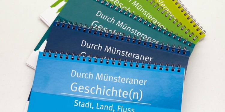 Der fünfbändige Radtourenführer &amp;quot;Durch Münsteraner Geschichte(n)&amp;quot;<address>&copy; WWU/AFO</address>