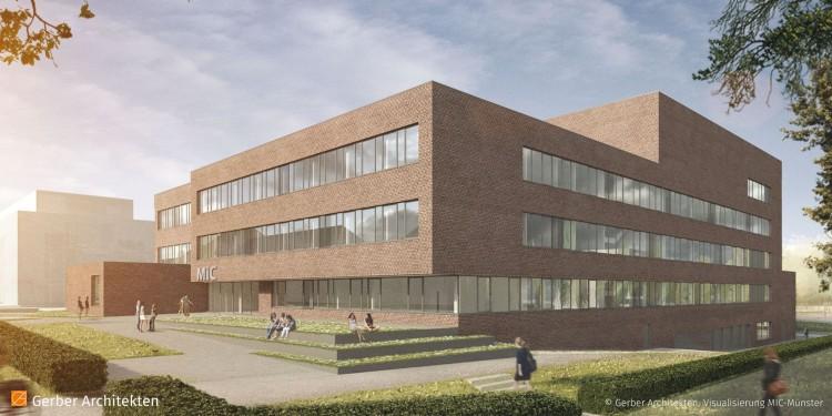 Visualisierung des MIC (Südseite)<address>&copy; Gerber Architekten, Dortmund</address>