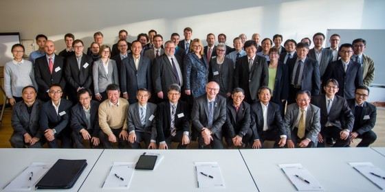 Members of the German-Taiwanese research cooperation project with representatives of the universities and research institutes involved and representatives of BMBF and MOST<address>&copy; WWU/Peter Leßmann</address>
