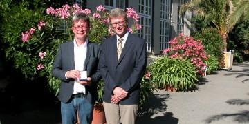 Daidalos-Münze an Prof. Dr. Thomas Hoeren verliehen: Studienstiftung würdigt Engagement des Juristen als Vertrauensdozent / Festakt im Botanischen Garten