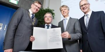 Ehrendoktorwürde für Johannes Georg Bednorz: Fachbereich Physik der WWU Münster würdigt Nobelpreisträger als engagierten Berater