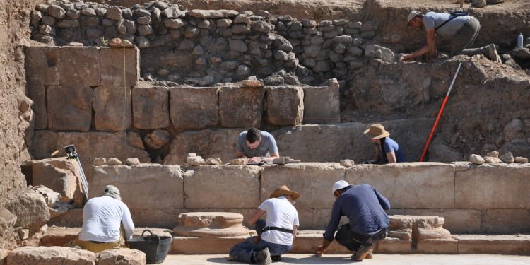 Daily work during the excavations in the basilica of Doliche<address>© Forschungsstelle Asia Minor</address>