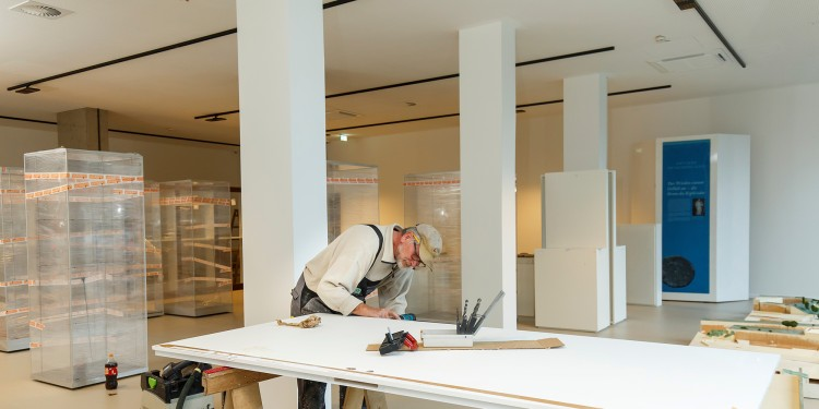 Workmen are currently busy finishing their work in the newly converted and extended Archaeological Museum<address>© WWU - MünsterView</address>