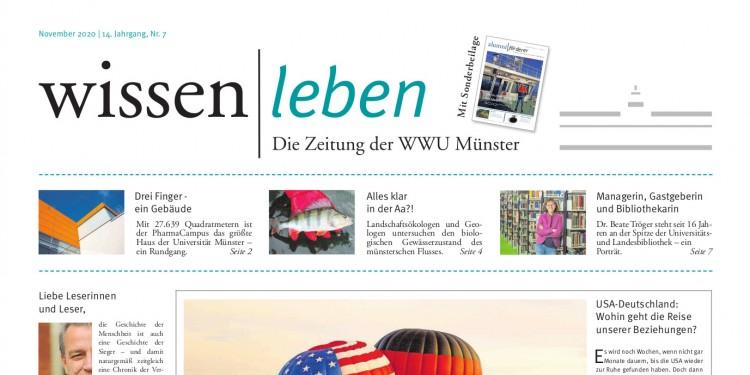 Titelseite der November-Ausgabe der Unizeitung<address>© WWU</address>