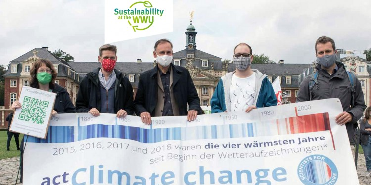 "The Münster branch of the ""Scientists for Future"" initiative supports sustainability with a variety of campaigns and projects.<address>© private source</address>"