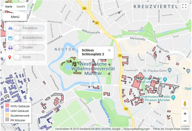 Campus map University of Münster